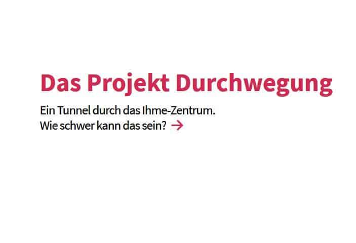"""Neue Website zur Durchwegung Ihme Zentrum pfadfinder - Neue Website zur Durchwegung: """"Ihme-Zentrum pfadfinder"""""""